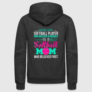 Softball Mom - Unisex Fleece Zip Hoodie