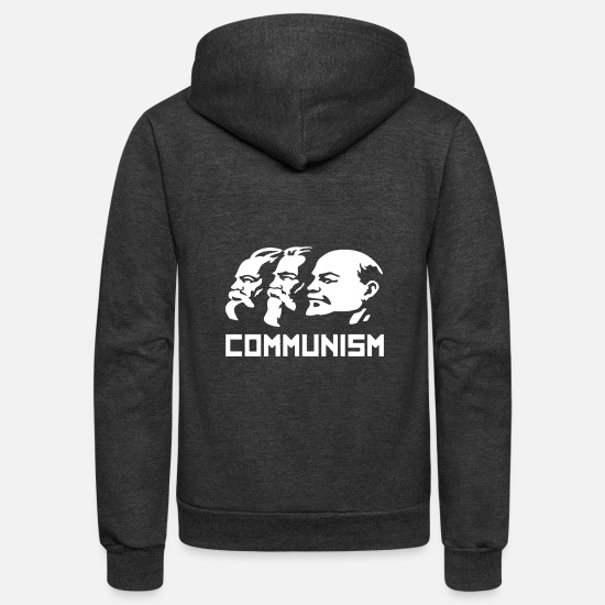 New World Order Hoodies & Sweatshirts - COMMUNISM RUSSIA New - Unisex Fleece Zip Hoodie charcoal gray