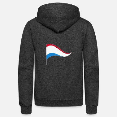 Luxembourg Luxembourg Benelux Europe Flag Banner Flags - Unisex Fleece Zip Hoodie