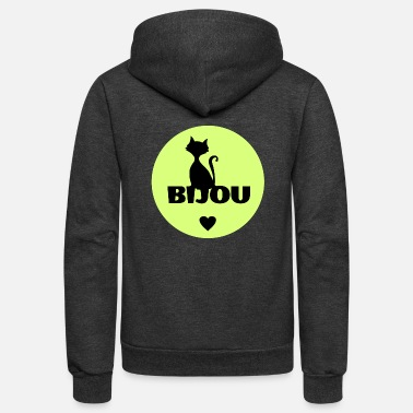 First Name Bijou first name cats name - Unisex Fleece Zip Hoodie