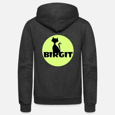 First Name Birgit Name first name - Unisex Fleece Zip Hoodie