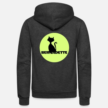 First Name Bernadette name first name - Unisex Fleece Zip Hoodie