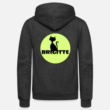 First Name Brigitte name first name - Unisex Fleece Zip Hoodie