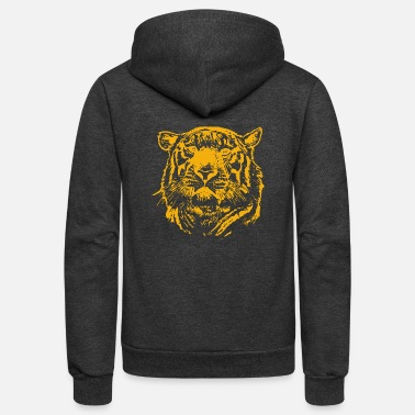 Lion Head Lions Head lion head - Unisex Fleece Zip Hoodie