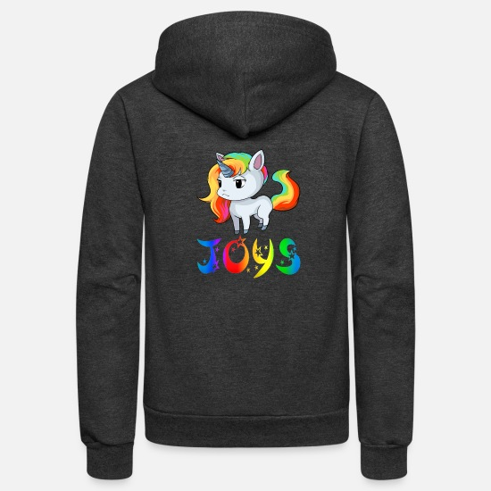 Joys Unicorn Hoodies & Sweatshirts - Joys Unicorn - Unisex Fleece Zip Hoodie charcoal gray