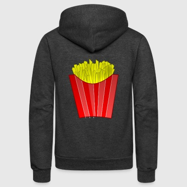 french fries pommes frites fastfood fast food9 - Unisex Fleece Zip Hoodie