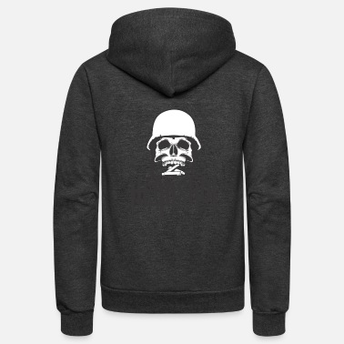 Streaker head shot - Unisex Fleece Zip Hoodie