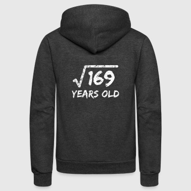 13th Birthday Square Root Of 169 13 Years Old 13th Birthday - Unisex Fleece Zip Hoodie