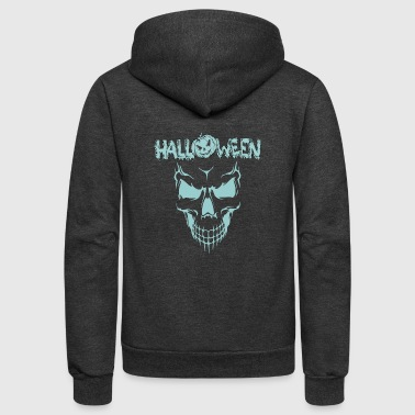 Scary Scary Sace Halloween - Unisex Fleece Zip Hoodie