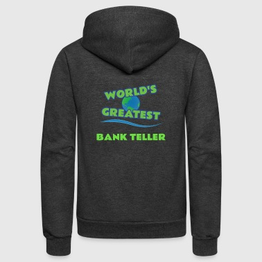 BANK TELLER - Unisex Fleece Zip Hoodie
