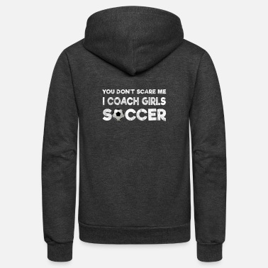 Girl Coach Girls Soccer - Unisex Fleece Zip Hoodie