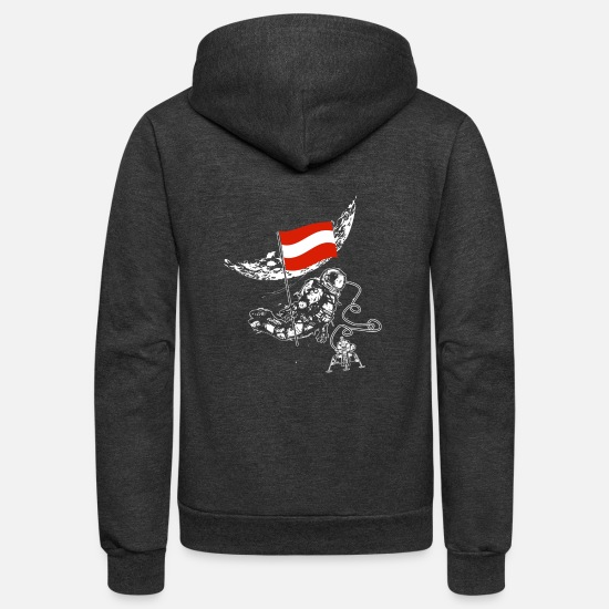 Austria Hoodies & Sweatshirts - Austria - Unisex Fleece Zip Hoodie charcoal gray