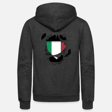 Schland Proud Italian flag - Awesome Italian flag t - sh - Unisex Fleece Zip Hoodie