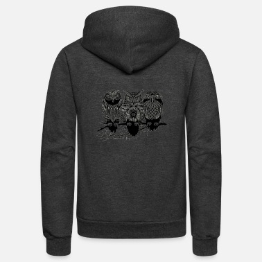 Nile Owls of the Nile ! - Unisex Fleece Zip Hoodie