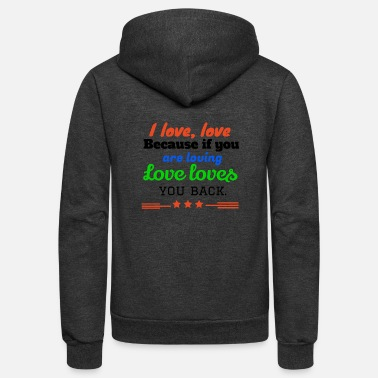 I Love I love,LOVE - Unisex Fleece Zip Hoodie