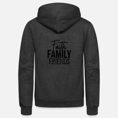 Family Friend Faith Family Friends - Unisex Fleece Zip Hoodie