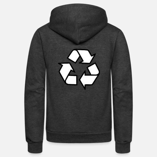 Birthday Hoodies & Sweatshirts - Recycling - Unisex Fleece Zip Hoodie charcoal gray