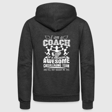 Proud Cheerleading Coach Shirt - Unisex Fleece Zip Hoodie