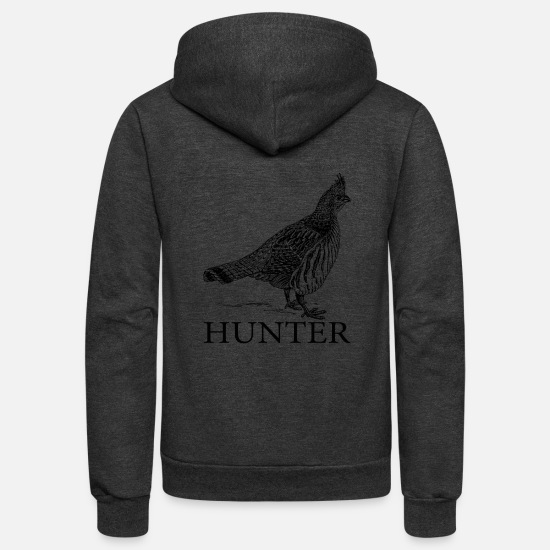 Grouse Hoodies & Sweatshirts - Grouse Hunter - Unisex Fleece Zip Hoodie charcoal gray