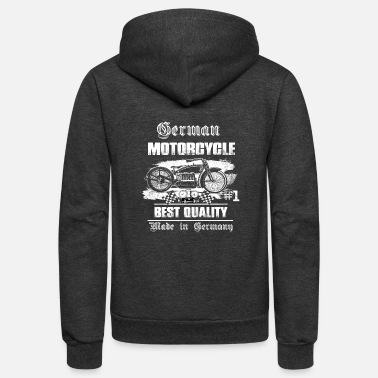 Germany German Motorcycle #1 Best Quality Made In Germany - Unisex Fleece Zip Hoodie