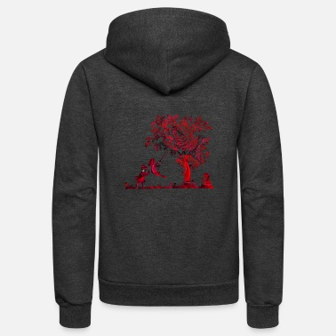 Children Kids and Roses - Unisex Fleece Zip Hoodie