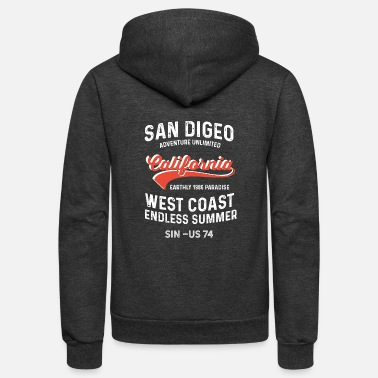 San Diego San Diego Californien Usa endless summer - Unisex Fleece Zip Hoodie