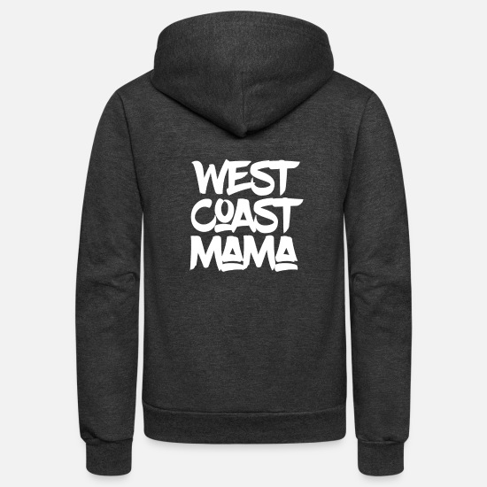 West Coast Hoodies & Sweatshirts - WEST COAST MAMA - Unisex Fleece Zip Hoodie charcoal gray