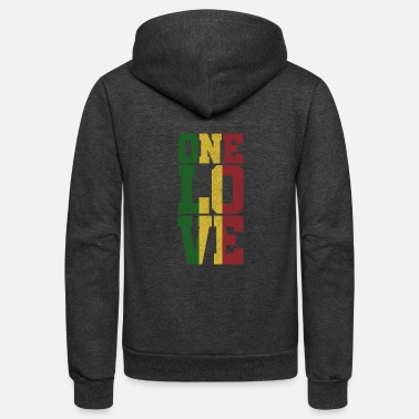 Reggae One Love - Jamaica Reggae Music Rasta Gift - Unisex Fleece Zip Hoodie