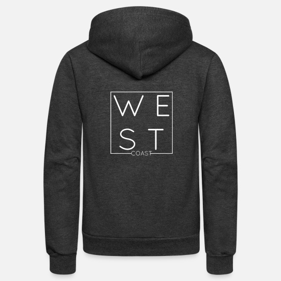 West Coast Hoodies & Sweatshirts - WEST COAST LIFESTYLE - Unisex Fleece Zip Hoodie charcoal gray