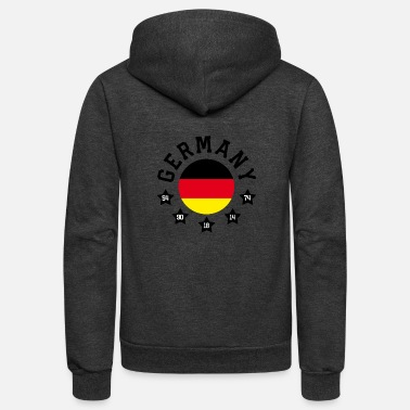 Germany - Unisex Fleece Zip Hoodie