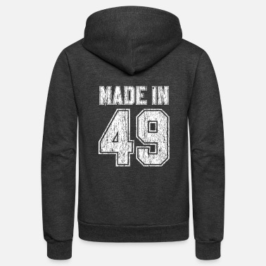 70th Made In 1949 - 70th Birthday Funny Gift - Unisex Fleece Zip Hoodie