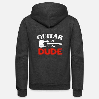 Guitar Dude bassist guitar gift - Unisex Fleece Zip Hoodie