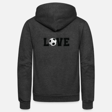 Soccer Team Love Soccer - Soccer Player Shirt - Soccer Team - Unisex Fleece Zip Hoodie