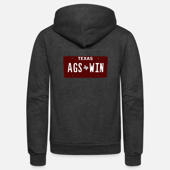 Softball Hoodies & Sweatshirts - Ags Win - Unisex Fleece Zip Hoodie charcoal gray