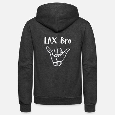 Hang Lacrosse LAX Bro Hang Loose - Unisex Fleece Zip Hoodie