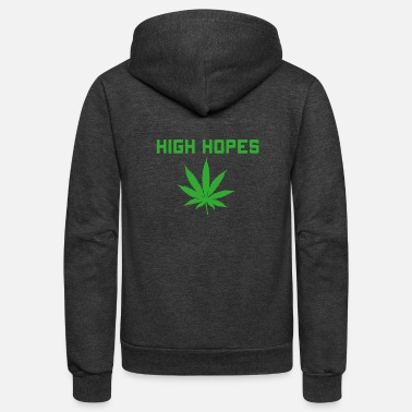 Cannabis High Hopes - Unisex Fleece Zip Hoodie