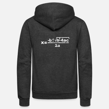 Quadrat Quadratic Formula - Unisex Fleece Zip Hoodie