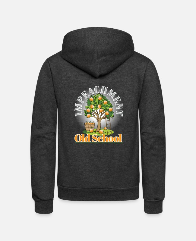 Impeached Hoodies & Sweatshirts - Impeachment - Unisex Fleece Zip Hoodie charcoal gray