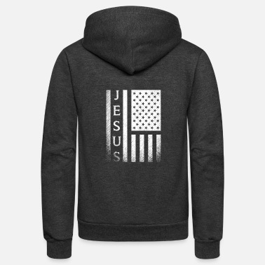 Unite With Love United States for Jesus - Unisex Fleece Zip Hoodie