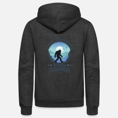House Social Distancing World Champion Funny Bigfoot - Unisex Fleece Zip Hoodie
