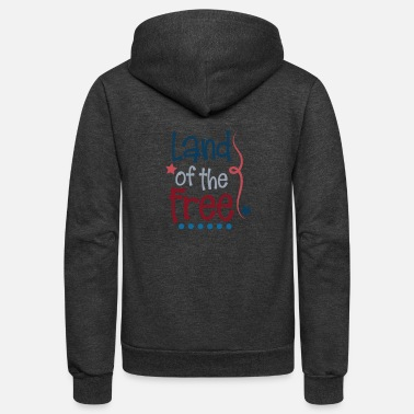 Labor Indepence Day Land of the Free July 4th Shirt - Unisex Fleece Zip Hoodie