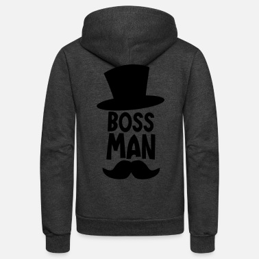 Moustache BOSS MAN moustache - Unisex Fleece Zip Hoodie