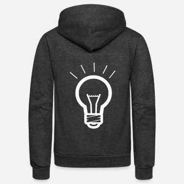 LIGHT BULB - Unisex Fleece Zip Hoodie