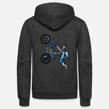 Toddler Yamaha Freestyle Motocross - Unisex Fleece Zip Hoodie