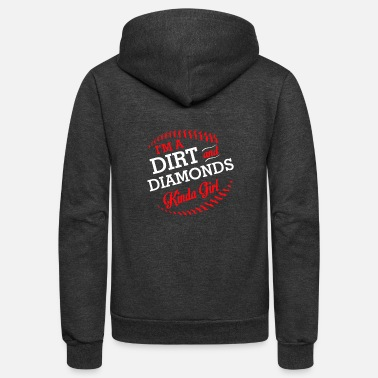 Softball Player Softball Player Girl Dirt Diamonds Kinda - Unisex Fleece Zip Hoodie