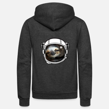 Lo Fi sloth helmet space sci fi astronaut nasa rocket lo - Unisex Fleece Zip Hoodie