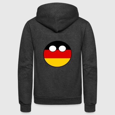 Ww1 Countryball Laenderball Land Heimat Deutschland - Unisex Fleece Zip Hoodie
