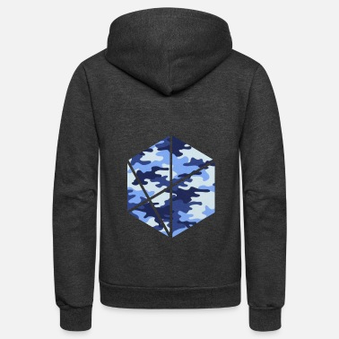 Fashion Trend honeycomb camouflage - Unisex Fleece Zip Hoodie