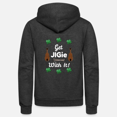 Irish Music St. Patrick's Day Irish Music & Dancing - Unisex Fleece Zip Hoodie