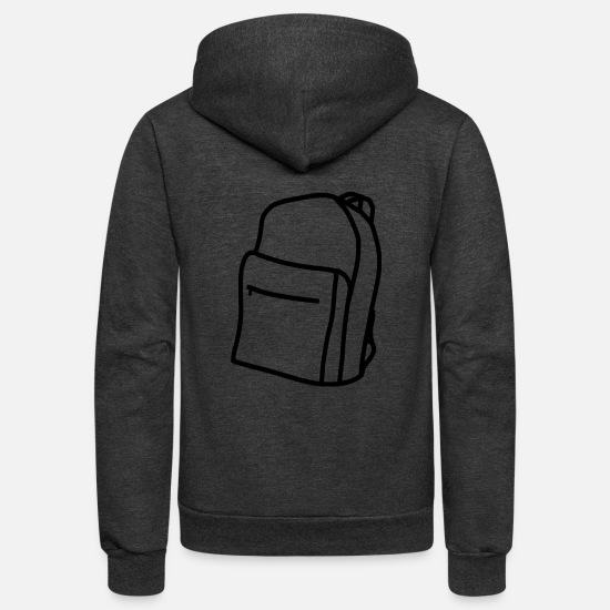 Wear Hoodies & Sweatshirts - backpack suitcase rucksack bag aktenkoffer13 - Unisex Fleece Zip Hoodie charcoal gray